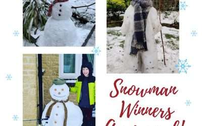 Snowman Competition Winners